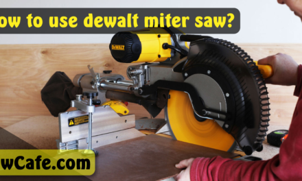 HOW TO USE DEWALT MITER SAW?