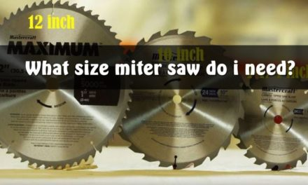 WHAT SIZE MITER SAW DO I NEED?