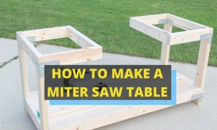 HOW TO MAKE A MITER SAW TABLE?