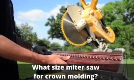What size miter saw for crown molding?